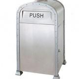 创意单筒机场不锈钢垃圾桶
