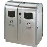 手工制作高档室内不锈钢高铁站分类垃圾桶