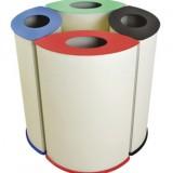 四分类商场垃圾桶