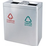 不锈钢分类商场垃圾桶