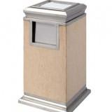 金线米黄大理石垃圾桶