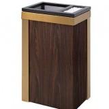 商场仿木纹垃圾桶