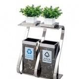 不锈钢地铁垃圾桶带花盆