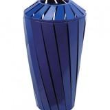 蓝色创意烤漆垃圾桶