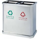 不锈钢地铁分类垃圾桶