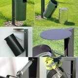 新型户外圆形垃圾桶内胆设计提取更轻松