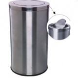 不锈钢圆形翻盖垃圾桶