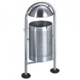 不锈钢户外圆形垃圾桶