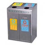 不锈钢二分类环保果皮箱