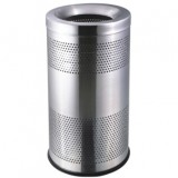 不锈钢圆形冲孔垃圾桶