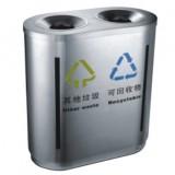 立式商用室内不锈钢二分类垃圾桶