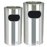 专用室内单口不锈钢圆形垃圾桶