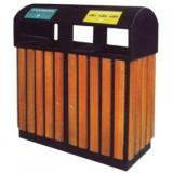 分类钢木垃圾箱