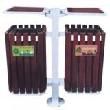 社区钢木分类垃圾箱