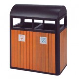 圆盖分类园林垃圾桶