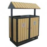 景区园林钢木垃圾箱