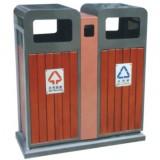 车站分类钢木垃圾桶