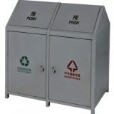 摇盖环卫分类垃圾桶