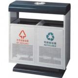 物业分类冲孔钢制垃圾桶