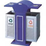 双烟缸户外分类钢制垃圾桶