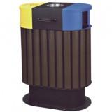 钢木烤漆分类垃圾桶