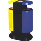 圆形户外分类钢制垃圾桶