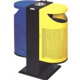 斜口户外分类钢制垃圾桶