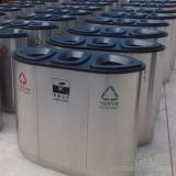 清远小区不锈钢三分类垃圾桶高端大气