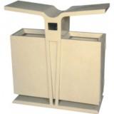 飞翼分类环保钢制垃圾桶