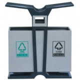 翼形分类环保钢制垃圾桶