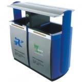 蓝翔分类环保钢制垃圾桶