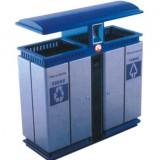 蓝顶分类环保钢制垃圾桶