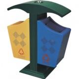 欧式小区钢制垃圾桶