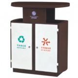 别墅创意双筒钢制分类垃圾箱
