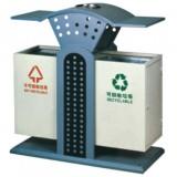 街区冲孔分类钢制垃圾箱