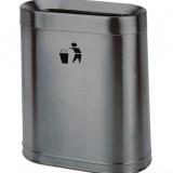 室内单桶候车室地铁不锈钢垃圾桶