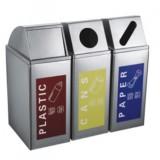 三分类不锈钢环保垃圾桶
