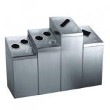 室内废纸瓶罐不锈钢四分类垃圾桶