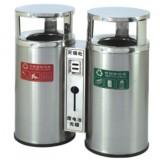 户外不锈钢分类环保桶