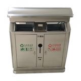 304加厚户外不锈钢分类垃圾桶