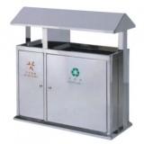 户外不锈钢屋形分类垃圾桶