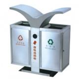 城市环卫翼形户外分类不锈钢垃圾箱