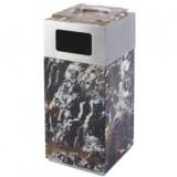 黑金花大理石方形烟灰桶