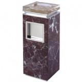 紫罗红大理石水晶烟灰桶
