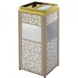 方形大理石钛金垃圾桶