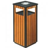 钢木单桶垃圾桶