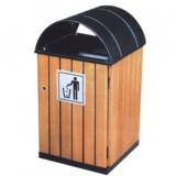 屋形钢木园林垃圾桶