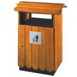 园林景区钢木垃圾桶