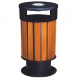 室外园林钢木垃圾桶