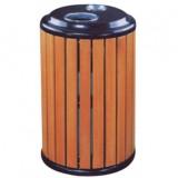 圆形立式钢木垃圾桶